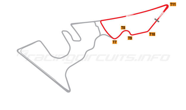 Map of Circuit of the Americas, Club Circuit 2012 to date