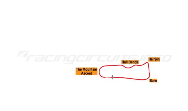 Map of Cadwell Park, Full Circuit 1938-50
