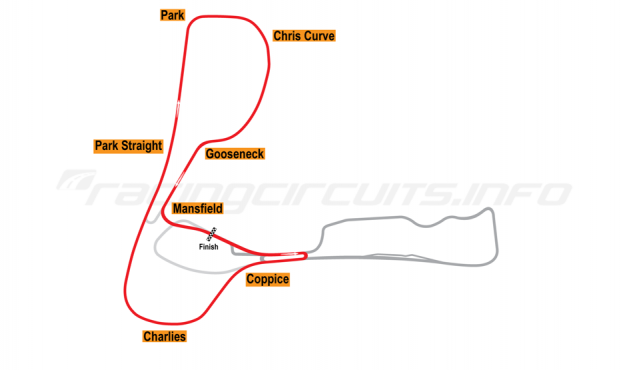 Map of Cadwell Park, Club Circuit 2004-05