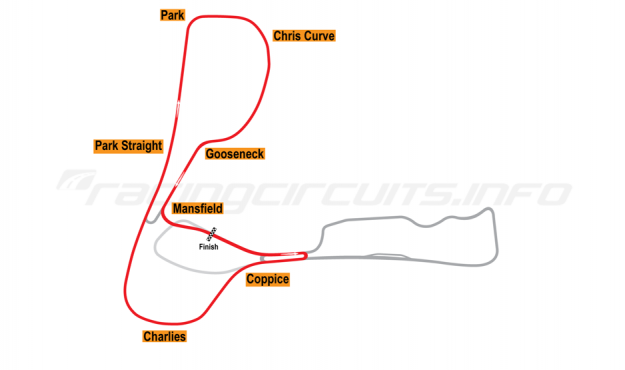 Map of Cadwell Park, Club Circuit 1961-87
