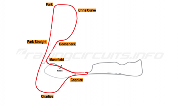 Map of Cadwell Park, Club Circuit 1993-2003