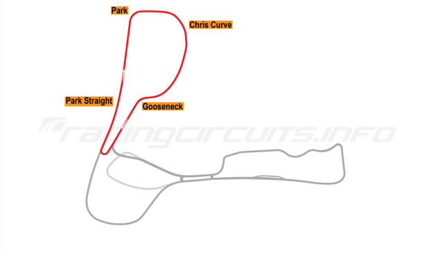 Map of Cadwell Park, Short Club Circuit 1961-87