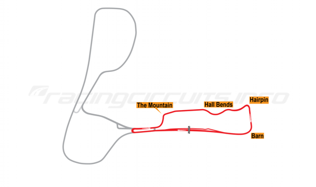 Map of Cadwell Park, Woodlands Circuit 2006 to date