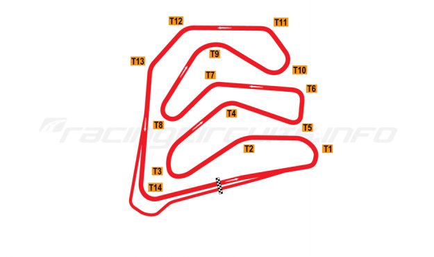 Map of Caesar's Palace, Grand Prix Course 1981-82