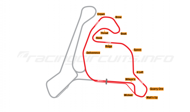 Map of Calabogie Motorsports Park, East