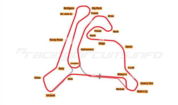 Map of Calabogie Motorsports Park, 2006 to date