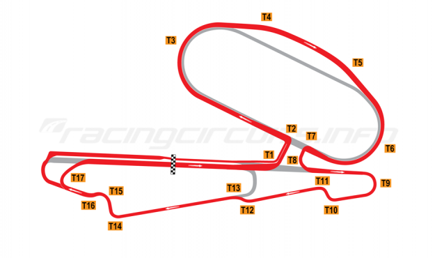 Map of Calder Park, 'Grand Prix' Combined Circuit 1987 to date