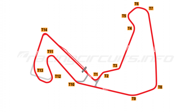 Map of Carolina Motorsports Park, 2008 to date