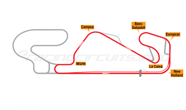 Map of Circuit de Barcelona-Catalunya, Motorcycle National Circuit 2007-2016