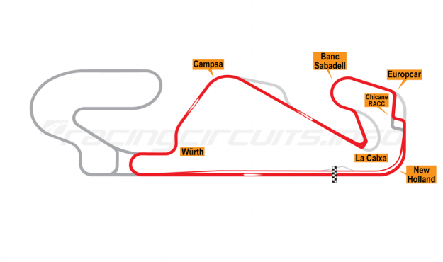 Map of Circuit de Catalunya, Motorcycle National Circuit 2017 to date