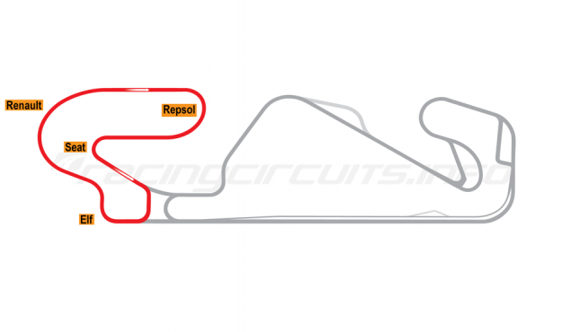 Map of Circuit de Barcelona-Catalunya, Club Circuit 2007-2016