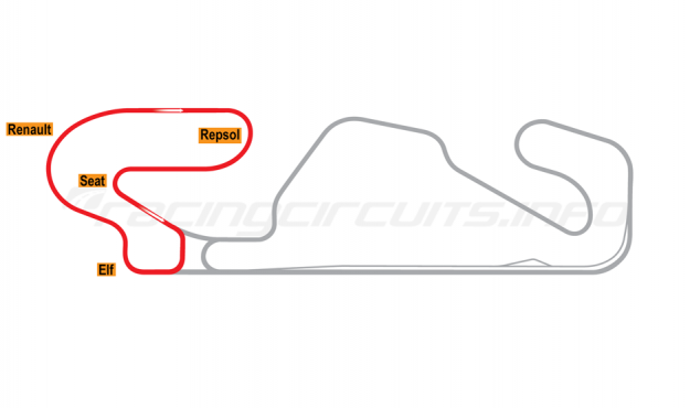 Map of Circuit de Barcelona-Catalunya, Club Circuit 1991-93