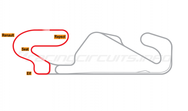 Map of Circuit de Barcelona-Catalunya, Club Circuit 1995-2003
