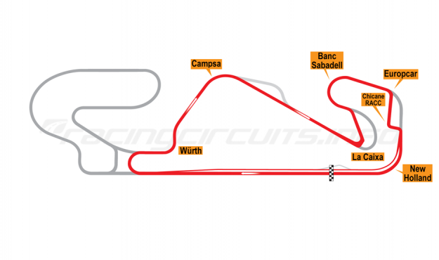 Map of Circuit de Catalunya, National Circuit 2007-2016