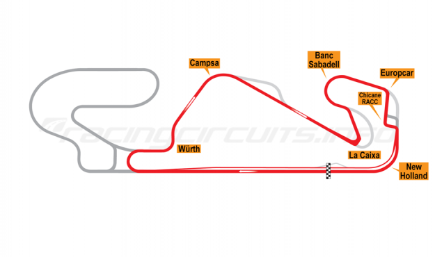 Map of Circuit de Catalunya, National Circuit 2017 to date