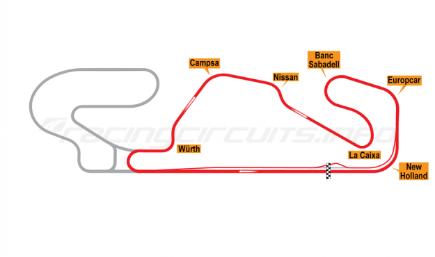 Map of Circuit de Barcelona-Catalunya, National Circuit 1991-93