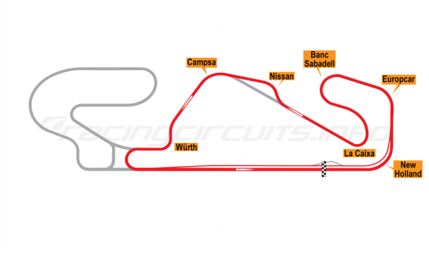 Map of Circuit de Barcelona-Catalunya, National Circuit 1995-2003