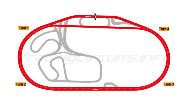 Map of Charlotte Motor Speedway, 2019 to date
