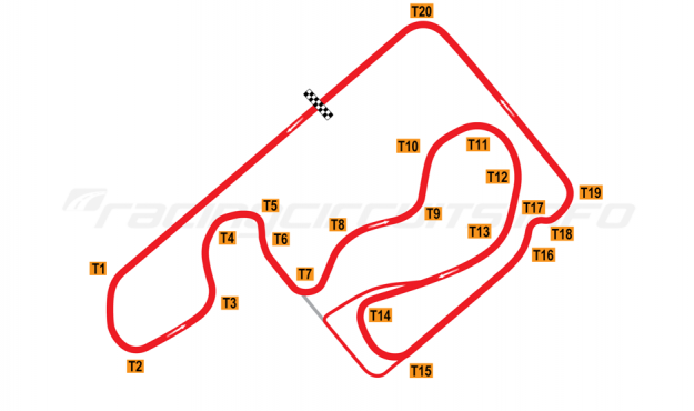 Map of Circuit 9, Current