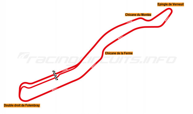 Map of Circuit de Folembray, Full circuit 1992-93