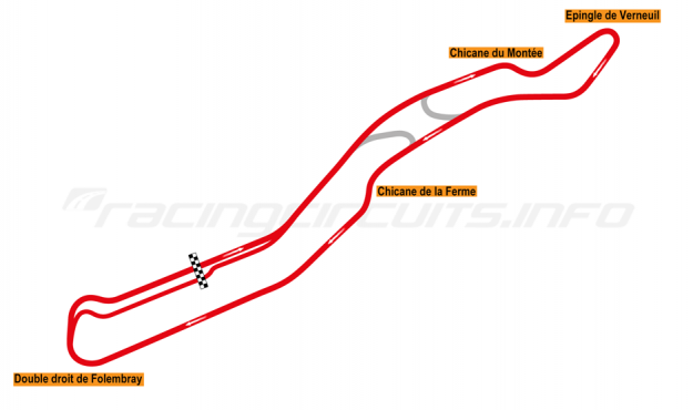 Map of Circuit de Folembray, 1994 to date