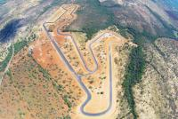 An aerial view of Circuito dos Cristais, Brazil