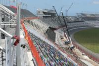 Work on the grandstands at Daytona