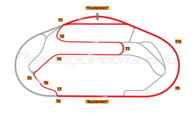Map of Daytona, Sportscar Course 2 1962-66