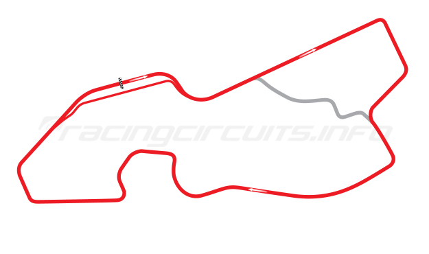 Map of Detroit Belle Isle, Grand Prix Course 1998-2001