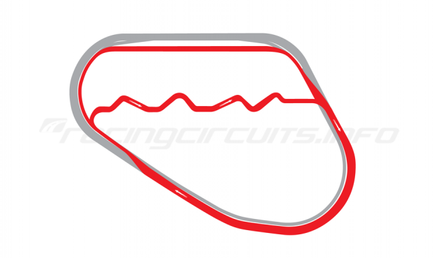 Map of Walt Disney World Speedway, Exotics Course 2012-15