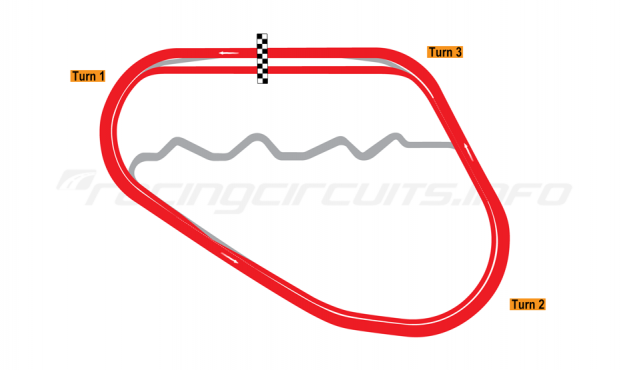 Map of Walt Disney World Speedway, 2012-15