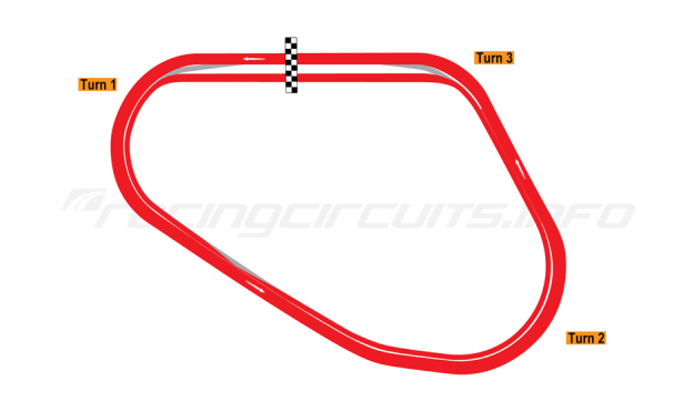 Map of Walt Disney World Speedway, Oval Course 1995-2011