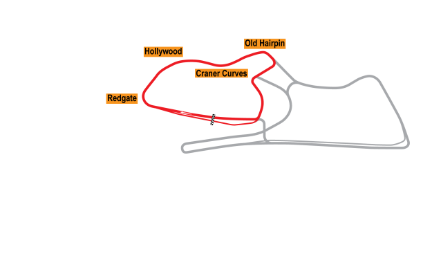 Map of Donington Park, Club Circuit 2010 Proposals