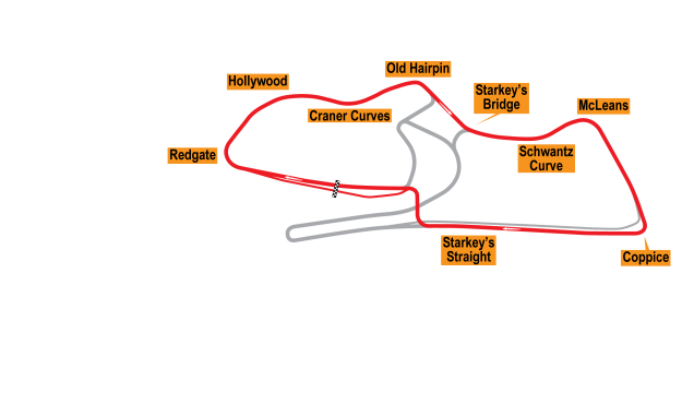 Map of Donington Park, National Circuit 2010 Proposals
