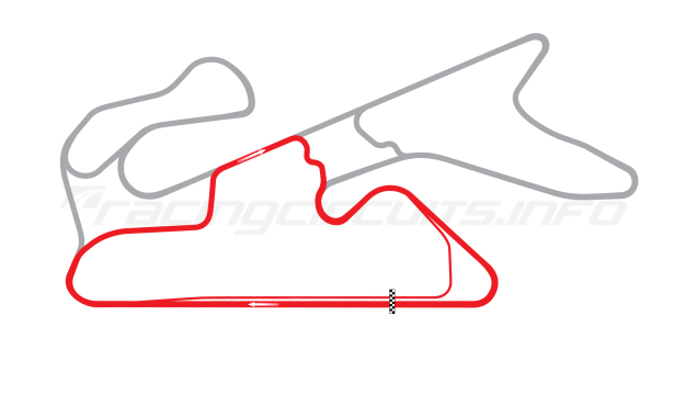 Map of Dubai Autodrome, Club Circuit 2004 to date