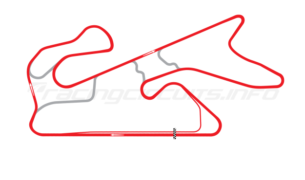 Map of Dubai Autodrome, Grand Prix Circuit 2004 to date