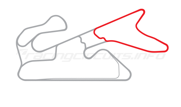 Map of Dubai Autodrome, Hill Handling Circuit 2004 to date