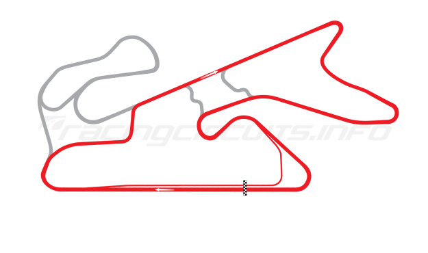 Map of Dubai Autodrome, International Circuit 2004 to date