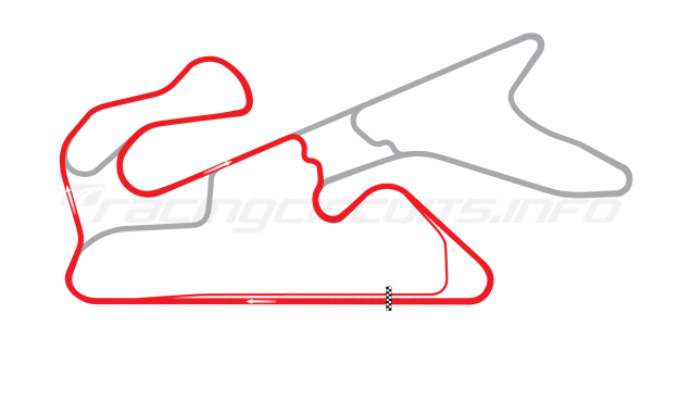 Map of Dubai Autodrome, National Circuit 2004 to date