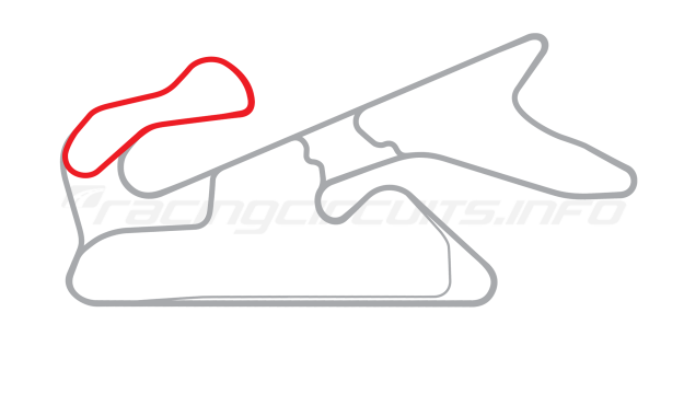 Map of Dubai Autodrome, Oval Handling Circuit 2004 to date