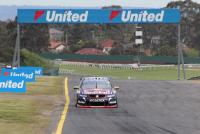 Paul Dumbrell leads during the co-driver qualifying race at the 2015 Wilson Security Sandown 500.
