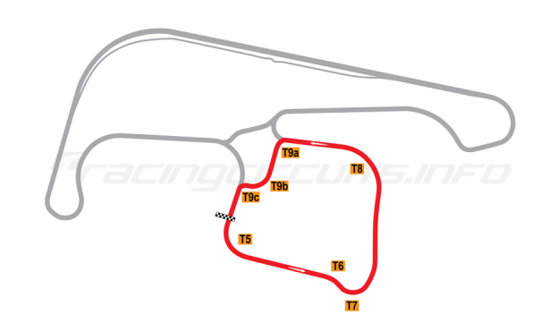 Map of Sydney Motorsport Park, Amaroo (South) Circuit 1990-2011
