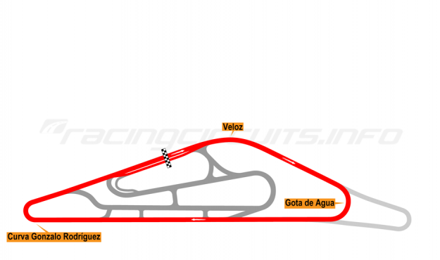 Map of El Pinar, Circuit No. 1 2014-16