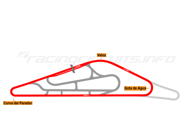 Map of El Pinar, Circuit No. 1 1999-2008