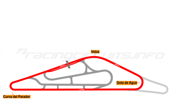 Map of El Pinar, Circuit No 1. (anti-clockwise) 1999-2008