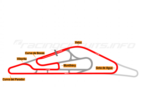 Map of El Pinar, Circuit No. 2 1999-2008