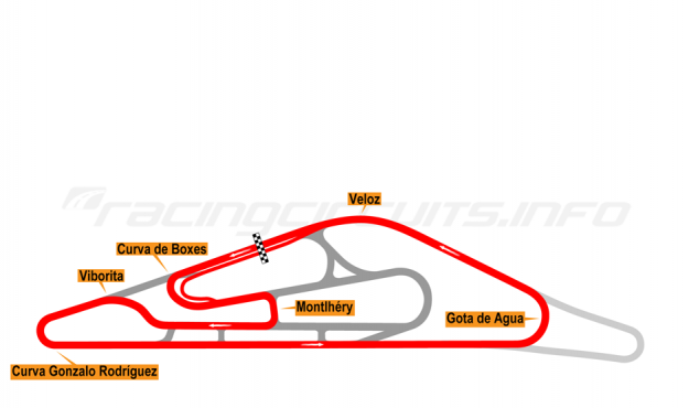 Map of El Pinar, Circuit No. 2 (anti-clockwise) 2009-2013