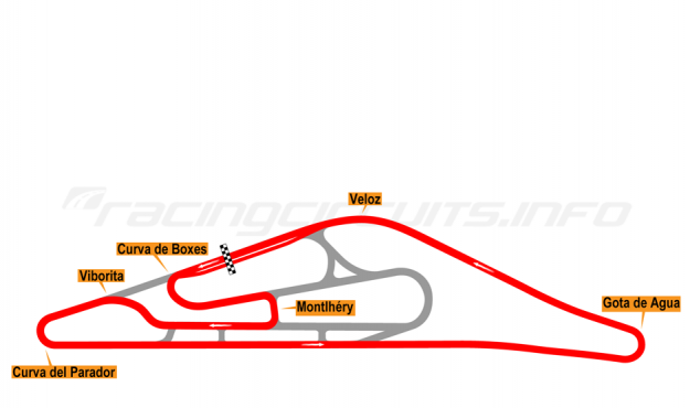 Map of El Pinar, Circuit No. 2 (anti-clockwise) 1975-98