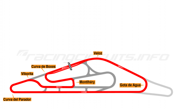 Map of El Pinar, Circuit No. 2 (anti-clockwise) 1999-2008