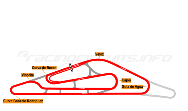 Map of El Pinar, Circuit No. 3 2014-16